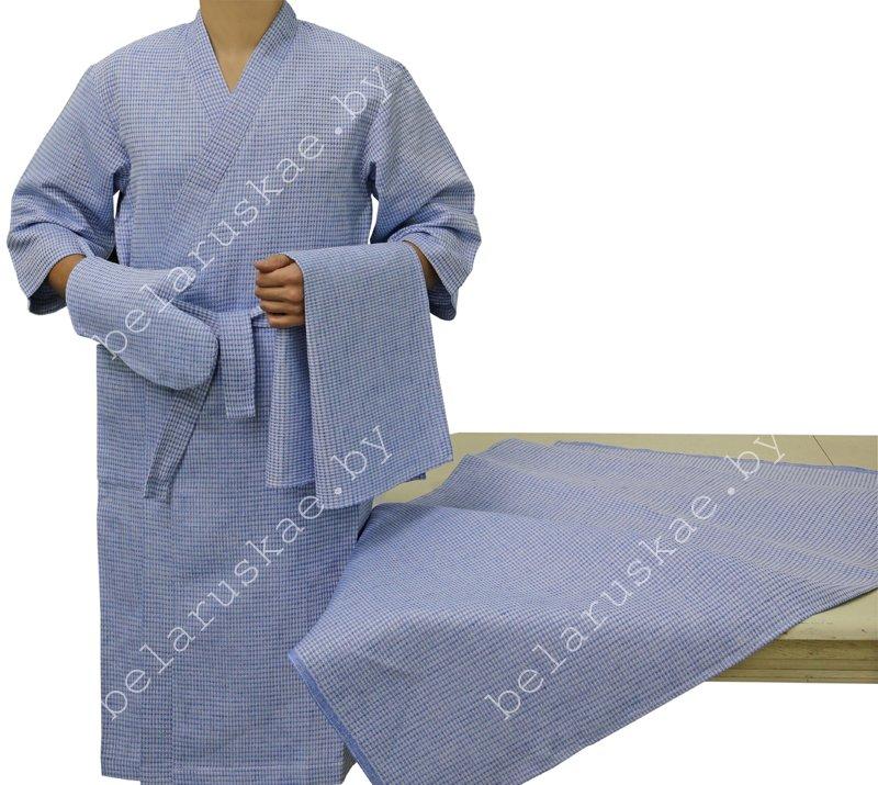 Комплект для бани (Халат, рукавица, 2 полотенца) 14С129_282_27, р-р 170,176-88,92 (р.44,46)